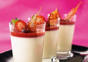Sahnegrießbrei mit Erdbeer-Topping