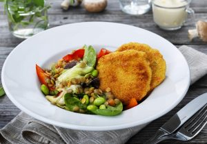 Rezeptidee FINDUS Gemüse-Burger mit Linsensalat